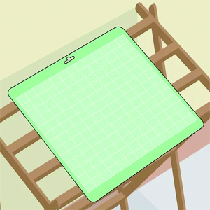 Air drying cameo cutting mat