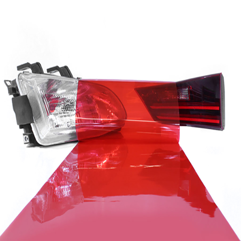 Red headlight tint