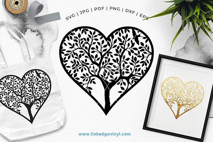 Heart Tree Free SVG Files