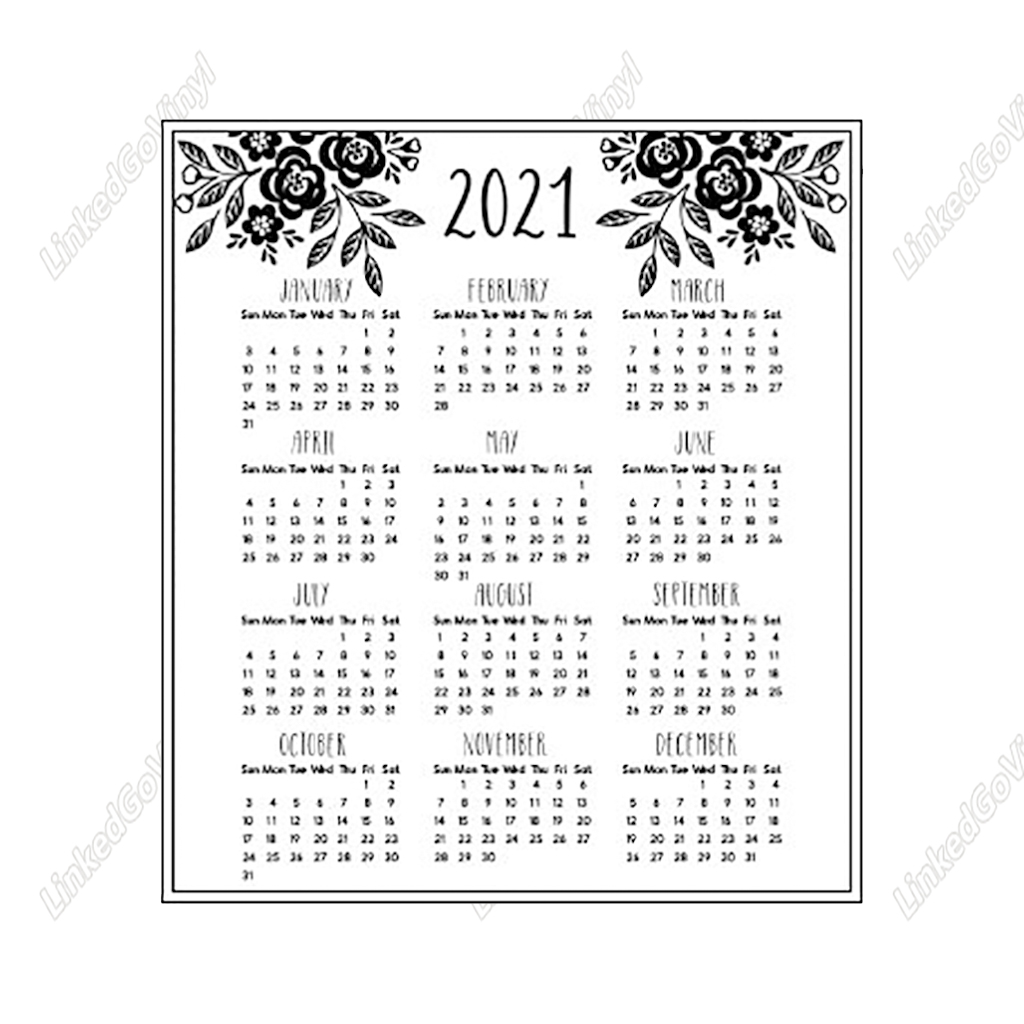 Design Free 2021 Mini Calendar Printable SVG Files | LinkedGo Vinyl