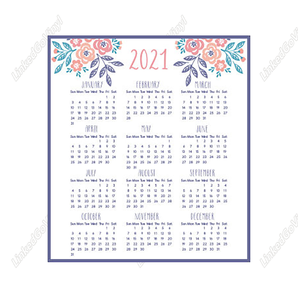 Free Mini Calendar 2021 Design Free 2021 Mini Calendar Printable SVG Files | LinkedGo Vinyl